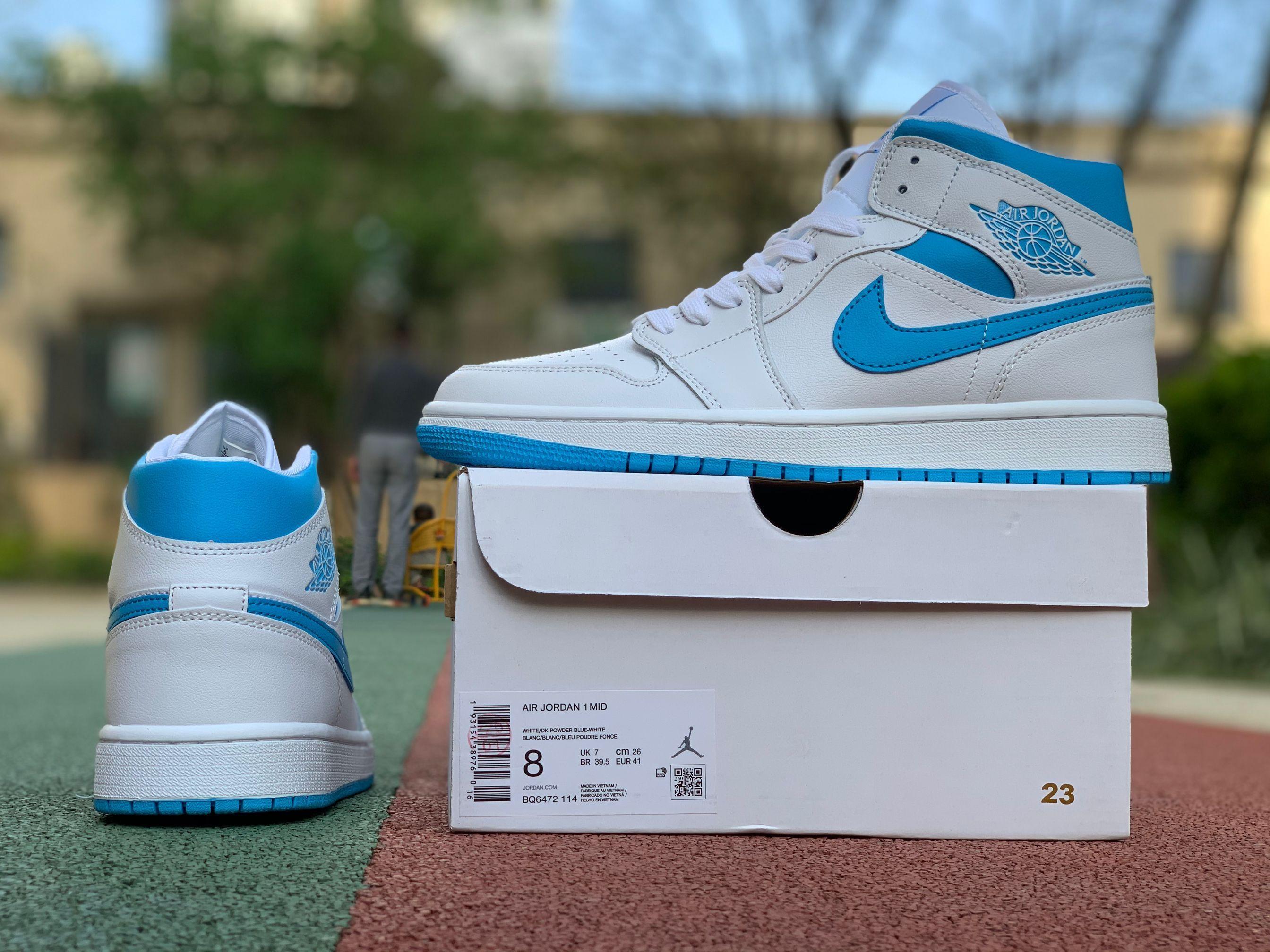 2020 Air Jordan 1 Mid Unc Basketball Shoes Bq6472 114 Blue Basketball Shoes Air Jordans Jordan Shoes New Release