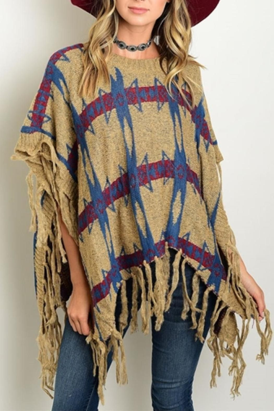 Paradis Miss Aztec Poncho | Tribal prints, Aztec and Products