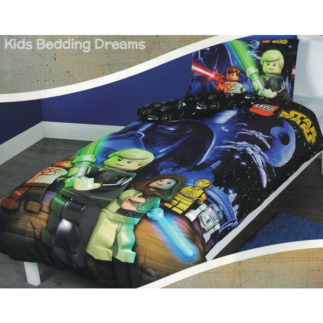 Lego Star Wars Quilt Cover Set Available From Kids Bedding Dreams Perfect For A Boys Bedroom And Fans Of Star Wars A Star Wars Quilt Quilt Cover Sets Lego Bed