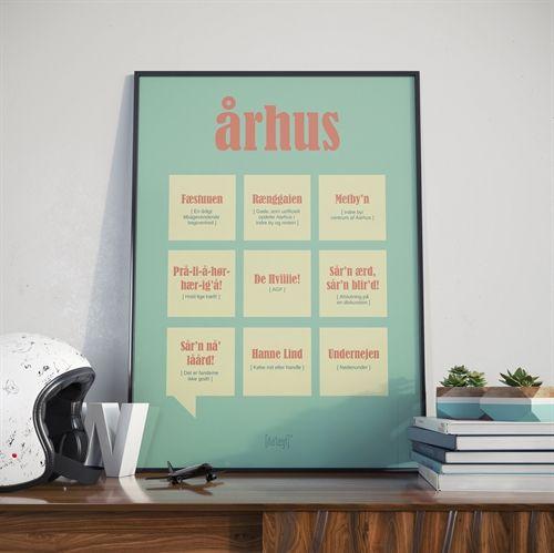 Dia'lægt Århus (Aarhus) plakat