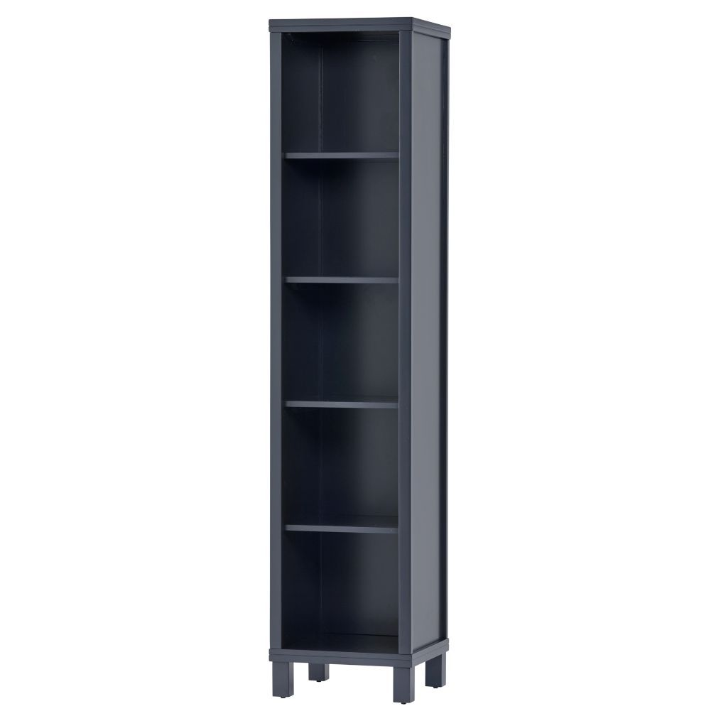 5 Cube Tall Bookcase Navy The Land Of Nod Bookcase Tall Bookcases Crate And Barrel
