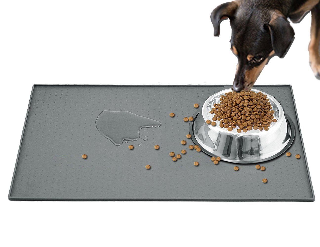 Extra Large Pet Feeding Mat For Dog Bowls 24 X16 Fda Grade Silicone Pet Placemats Waterproof Anti Slip Anti Spill Dog Food Mat Dog Food Recipes Dog Bowls