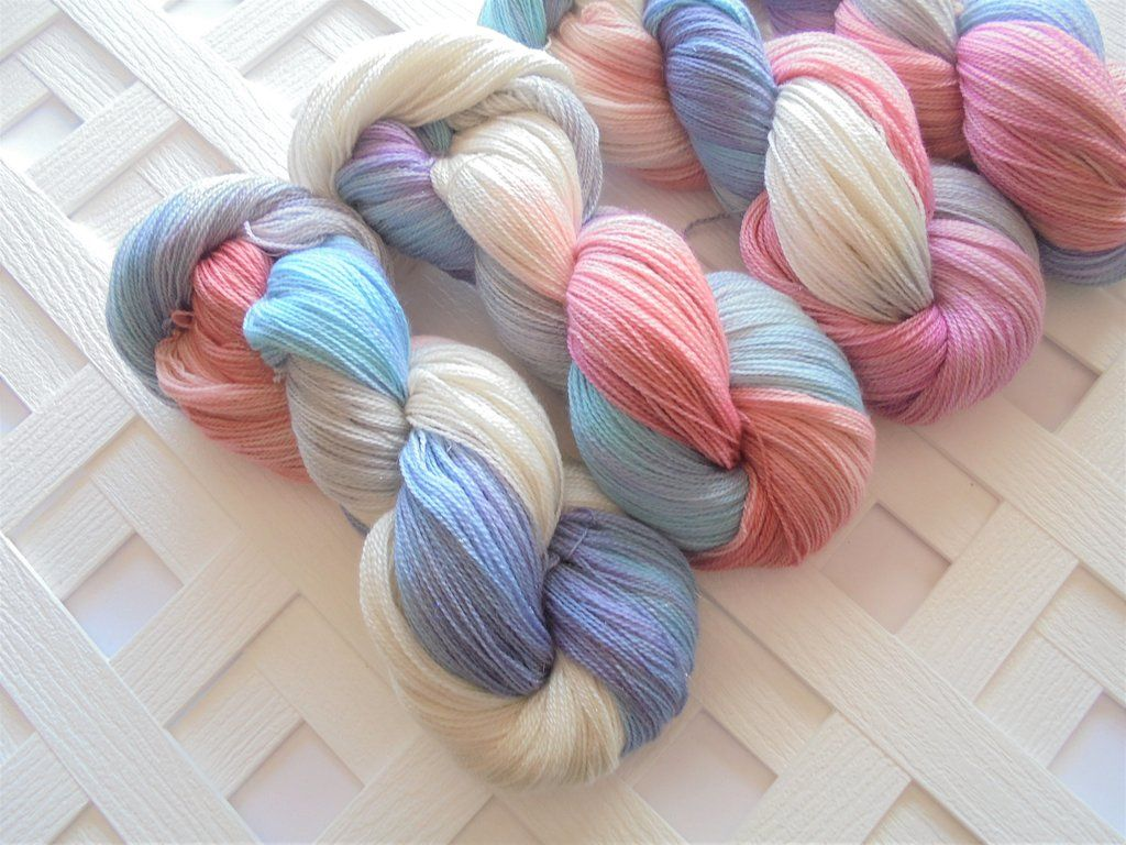 JANE BENNET Hand-Dyed Silky Sparkly Lace-Weight Yarn - Jane Austen  Collection
