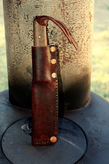 sheath i made by via flickr crafty leathercraft pinterest cuir etui et. Black Bedroom Furniture Sets. Home Design Ideas