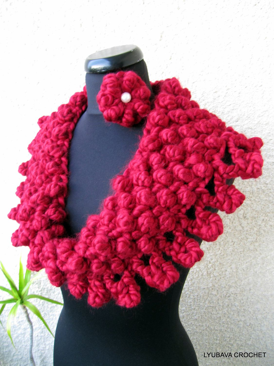 Chunky cowl scarf pdf crochet pattern super chunky cowl red scarf chunky cowl scarf pdf crochet pattern super chunky cowl red scarf easy crochet pattern bankloansurffo Images