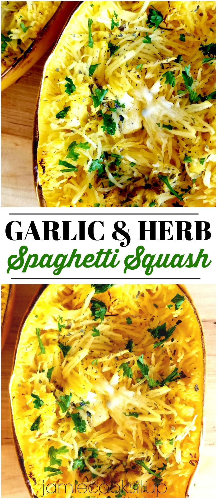 Garlic and Herb Spaghetti Squash #spagettisquashrecipes