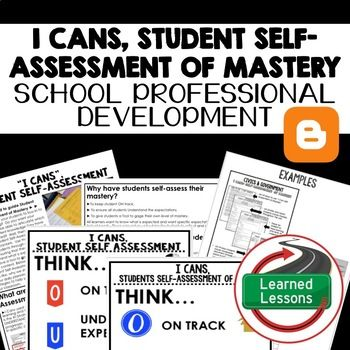 I Cans Student SelfAssessment Of Mastery Teacher Pd Series