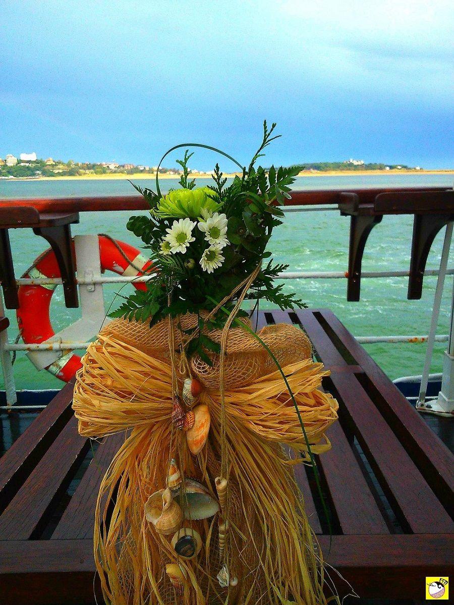 Decoración boda en barco