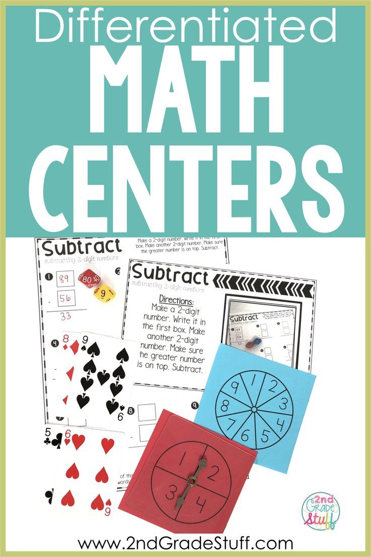 2nd Grade Math Centers for the Entire Year - 36 Centers These simple, easy prep, low cost 2nd grade math center activities are perfect for early finishers, guided math rotations, centers, morning work, or homework for your students. These fun ideas are engaging and practical since the teacher only needs cards, dice, or spinners to implement as a guided math station. They are easy to set up and keep organized in the elementary classroom due to the simplicity of the design.