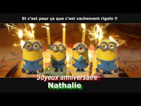 Minions Joyeux Anniversaire Personnalise Nathalie Youtube