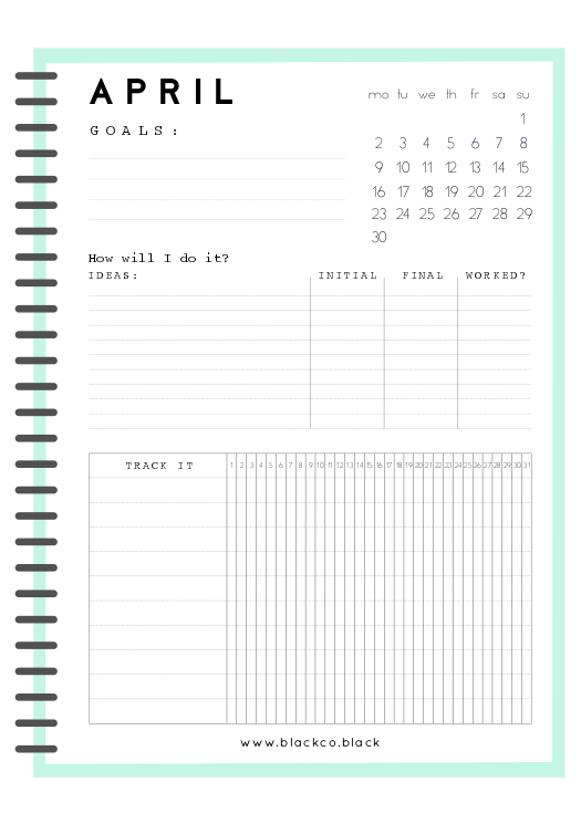 monthly goals planner october boss lady pinterest goals