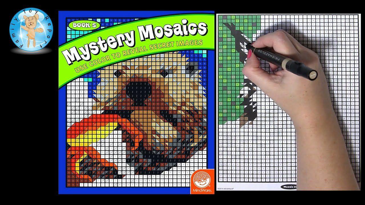 Mystery Mosaics Coloring Book Elegant Mindware Mystery