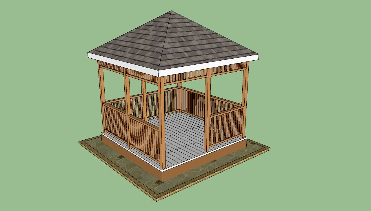 plans to build a wooden gazebo for dad pinterest wooden