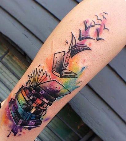 Resultado De Imagen Para Tatuajes Libros Tatuajes Literarios