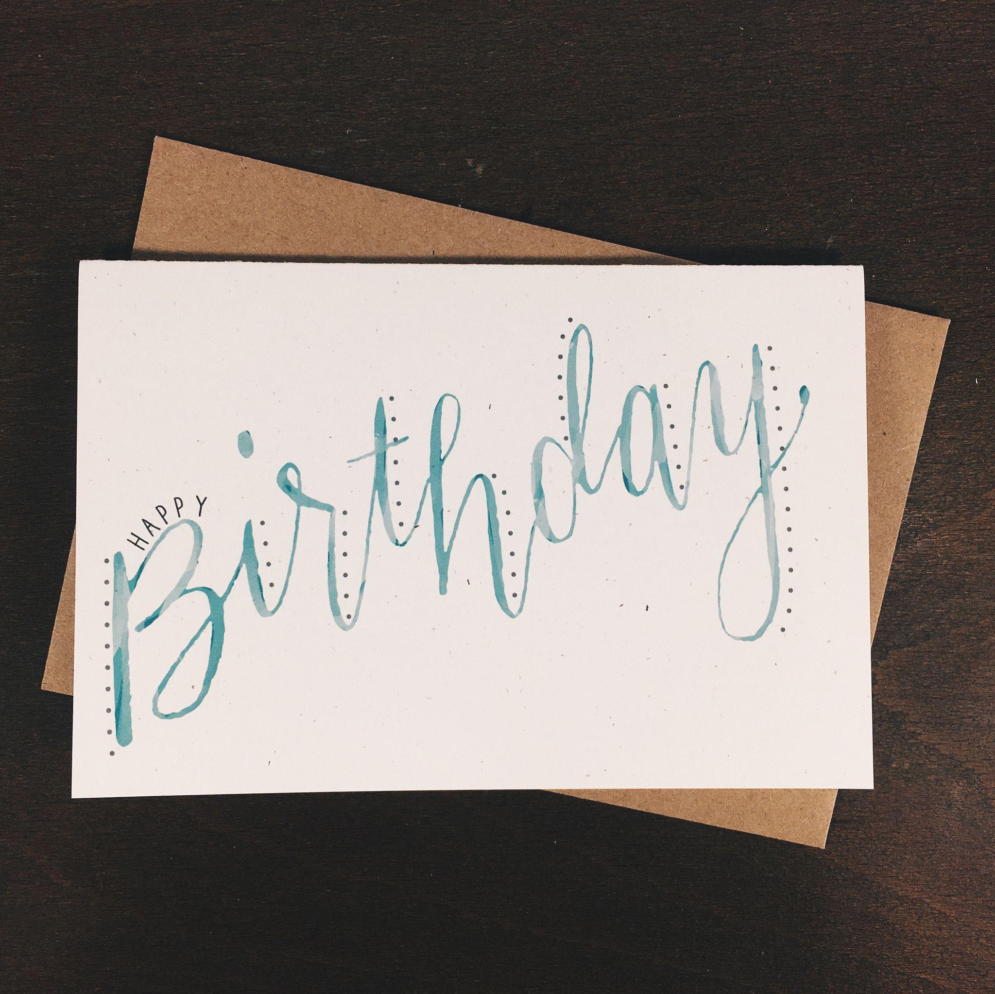 Watercolor Birthday