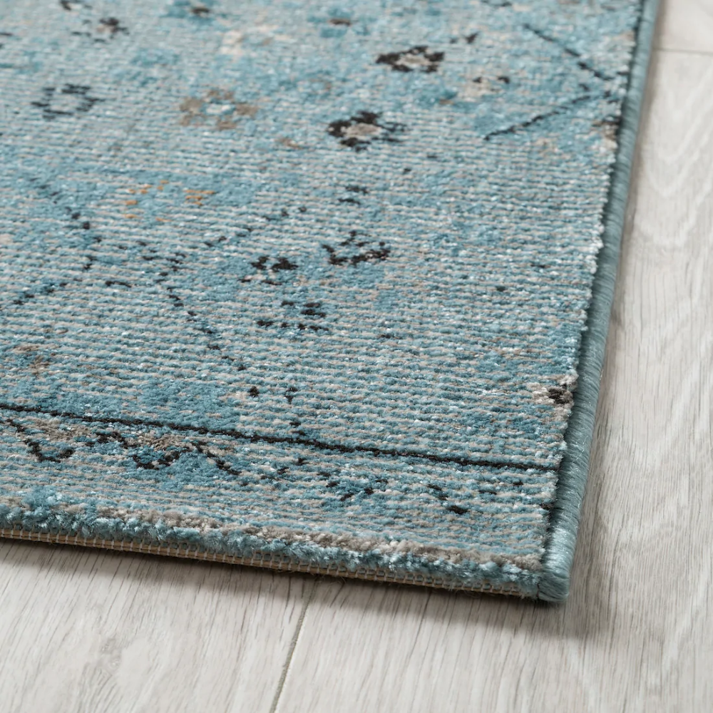 Lakolk Rug Low Pile Blue Antique Look Ikea Rugs How To Clean Carpet At Home Furniture Store