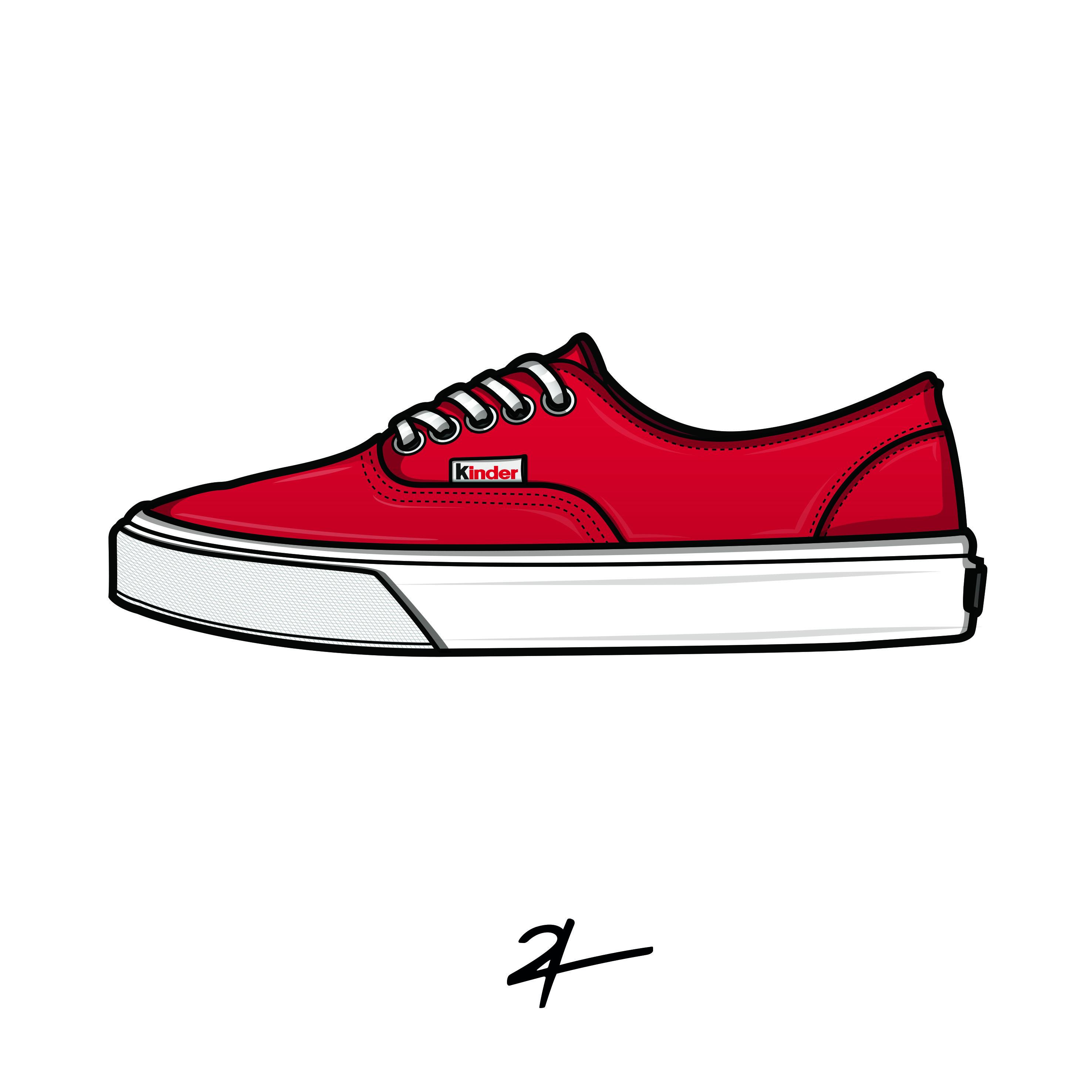 dessin chaussures vans