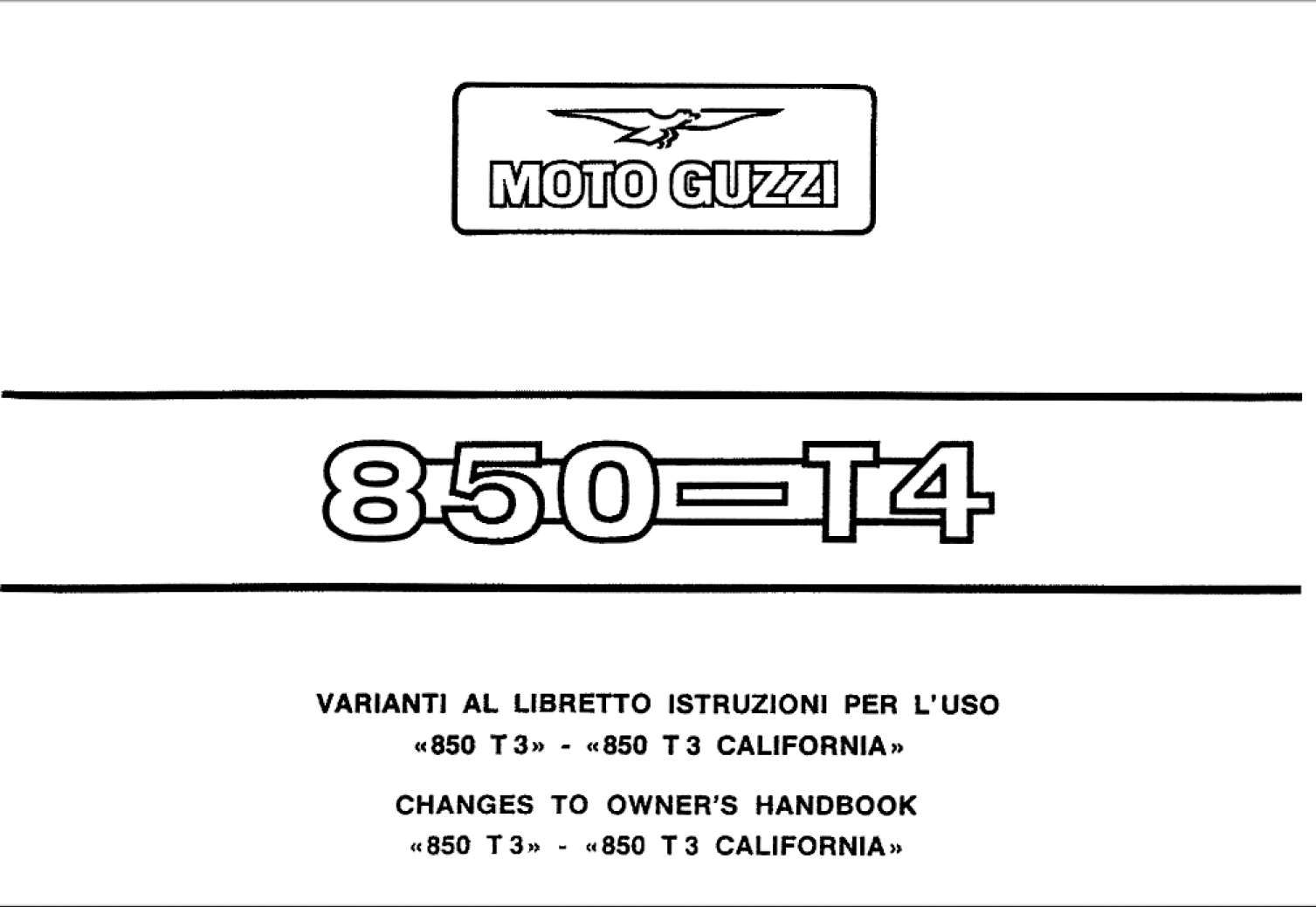 Moto Guzzi T4 T3 2004 Owner S Manual Has Been Published On Procarmanuals Com Https Procarmanuals Com Moto Guzzi T4 T3 2004 Own Moto Guzzi Moto Owners Manuals