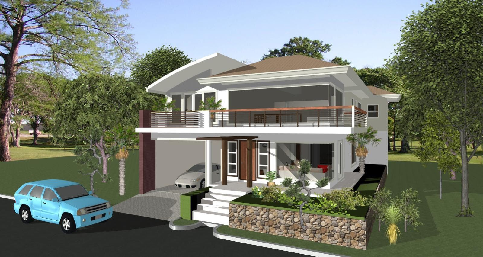 Rezultat Poshuku Zobrazhen Za Zapitom Elevated House Design Philippines House Design Small House Exteriors Modern House Plans