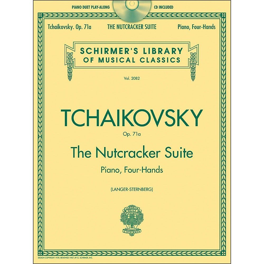 G. Schirmer Nutcracker Suite 1 Piano/ 4 Hands with CD Schirmer Library  Book/CD By Tchaikovsky