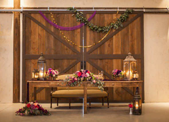 Rustic Purple Wedding Inspirations from http://rusticweddingchic.com/rustic-purple-wedding-inspiration ~Can be recreated with lanterns and flowers from Afloral.com