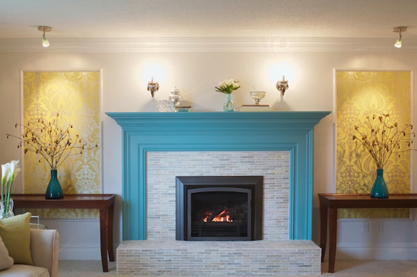 House Of Turquoise Fabulous Fireplace Paint Fireplace Painted Fireplace Mantels Home