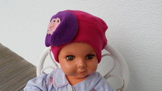 bonnet béret chapeau bébé fille lin eva kids polaire rose   BONNETS ... 64563dc5c36