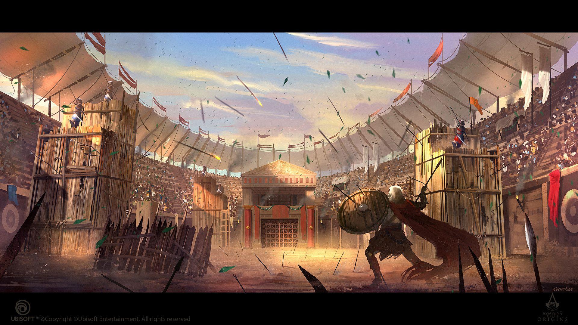 ArtStation - Assassin's Creed Origins - Cyrene Arena, Cristian Chihaia |  Arena fantasy art, Fantasy arena, Arena fantasy