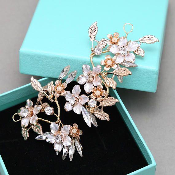 Gold Headpiece Wire DIY, Handmade Flower Tiara Supply, Wedding Metal ...