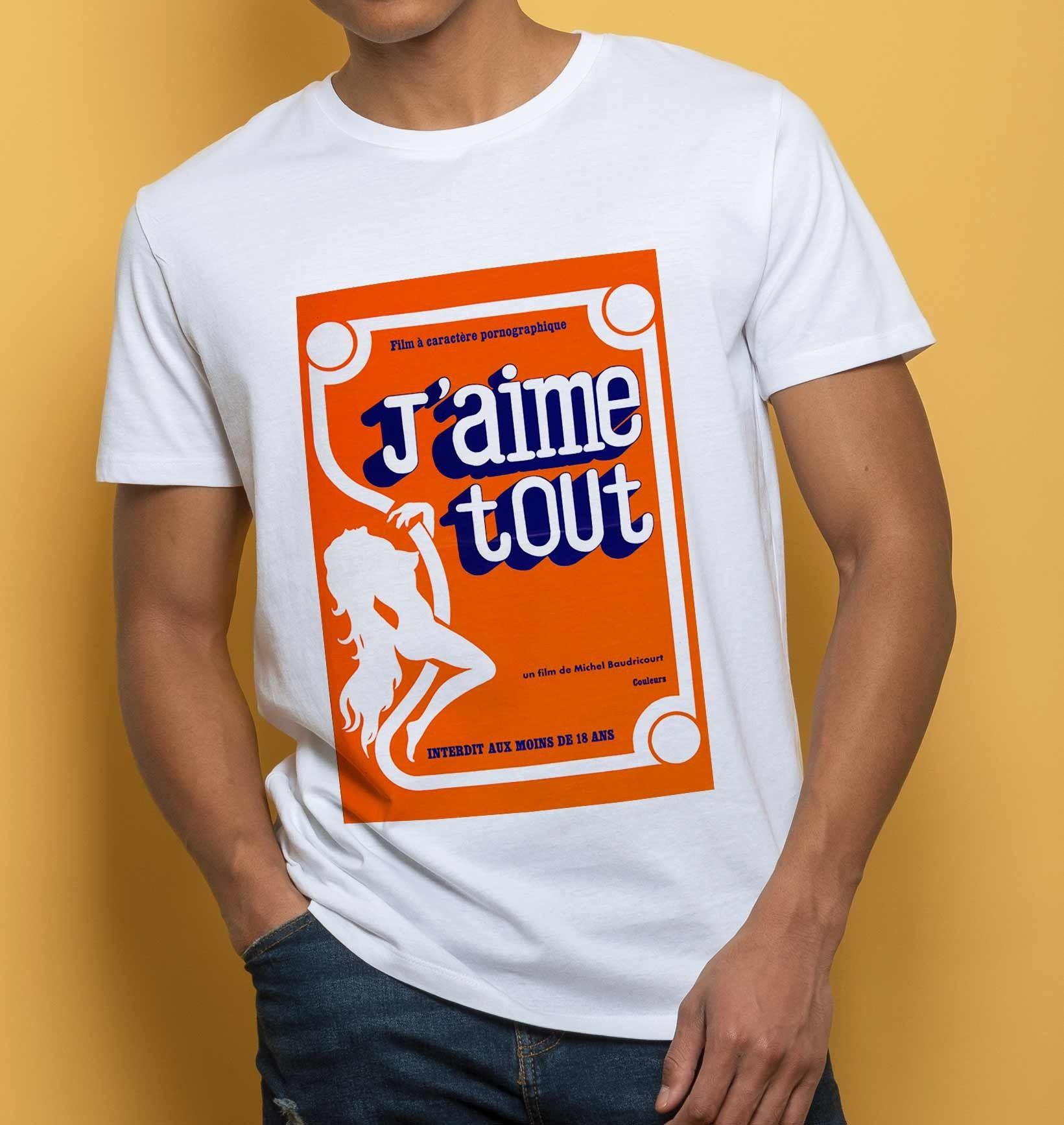 01c23c5c8cc07 T-shirt pour Homme J aime Tout de couleur Blanc