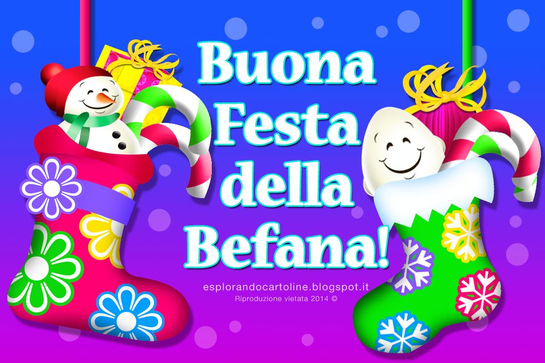 Cartolina Buona Festa della Befana e Buon Complean ...