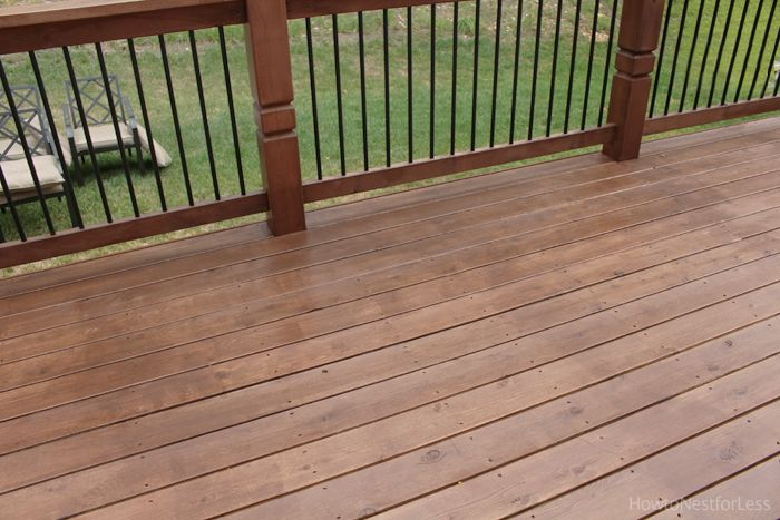 Stained Deck How To Nest For Less Staining Deck Wood Deck Stain Deck Stain Colors