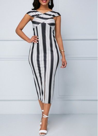 Black and white bodycon dress no dress popular jeans