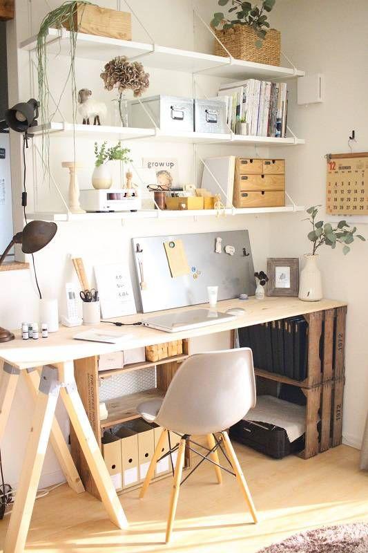 Photo of 手持ちの棚と○○を利用して、PCデスクをプチプラ簡単DIY! : Chairs and. インテリアコーディネーター的DIYと暮らしのブログ Powered by ライブドアブログ