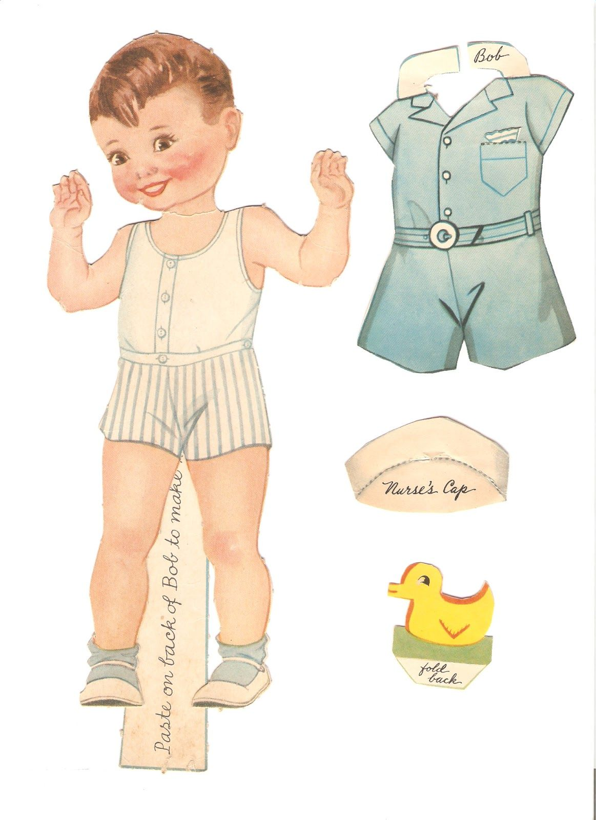 paper doll pattern - HD 1163×1600