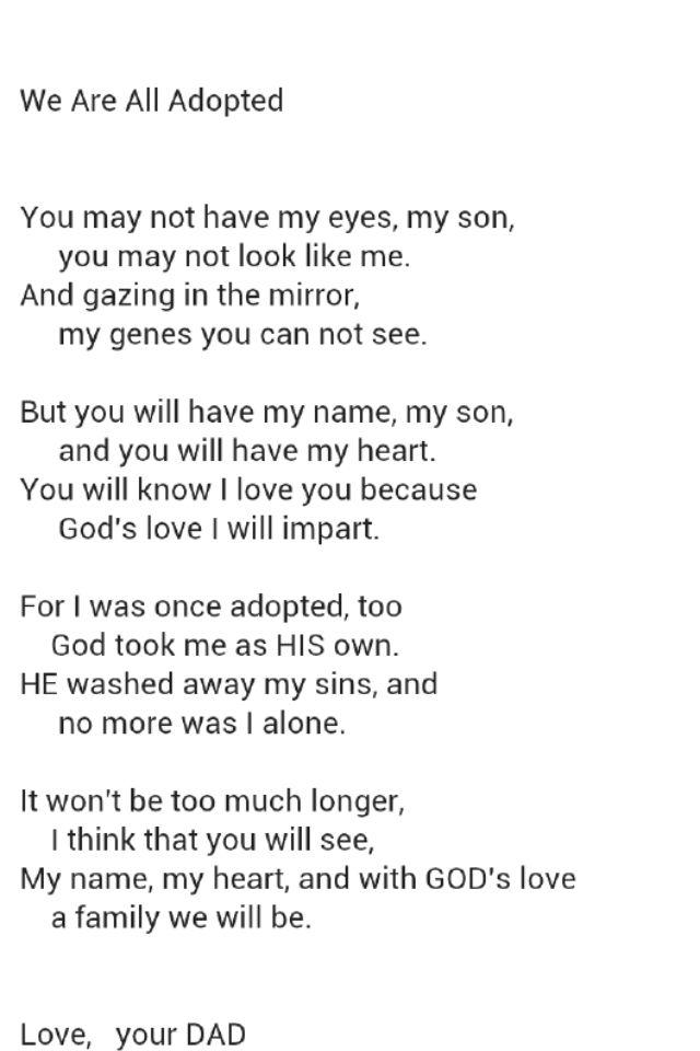 Adoption Poems