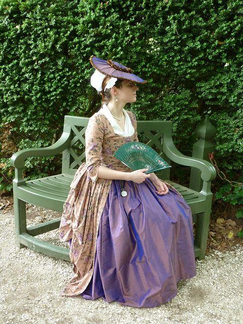Image result for eighteenth century reenactment women's dress flikr