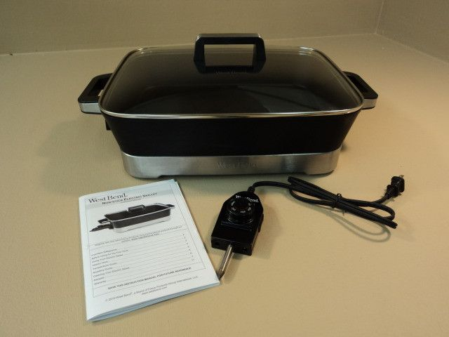 WestBend Non-Stick Electric Skillet Oblong 15-in x 12-in x 2 3/4-in 72400L -- New