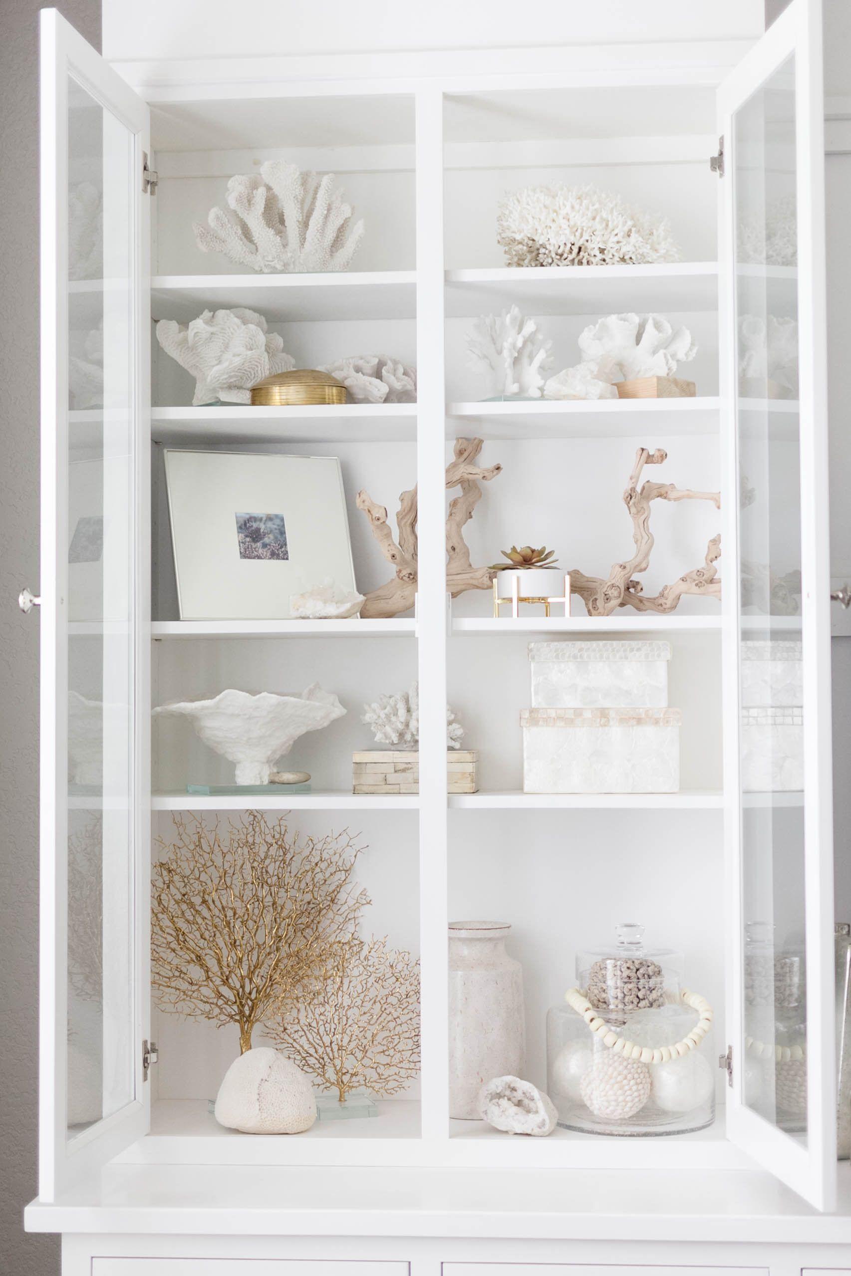 Photo of Coastal Bookcase Styling
