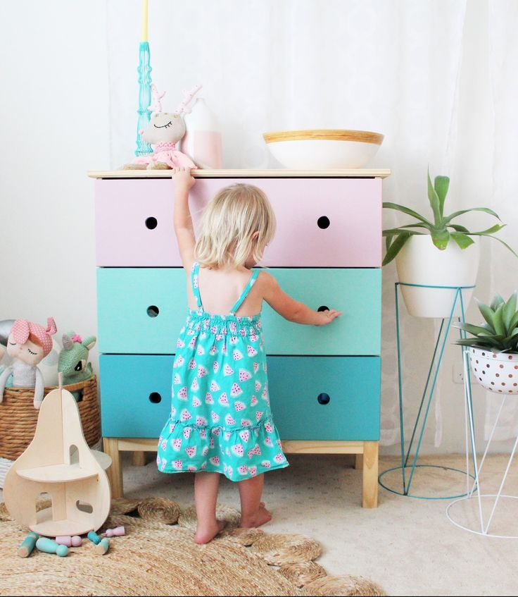 IKEA hack - easily transform a standard chest of Ikea drawers with this simple yet fun IKEA hack. Perfect for a child's bedroom.
