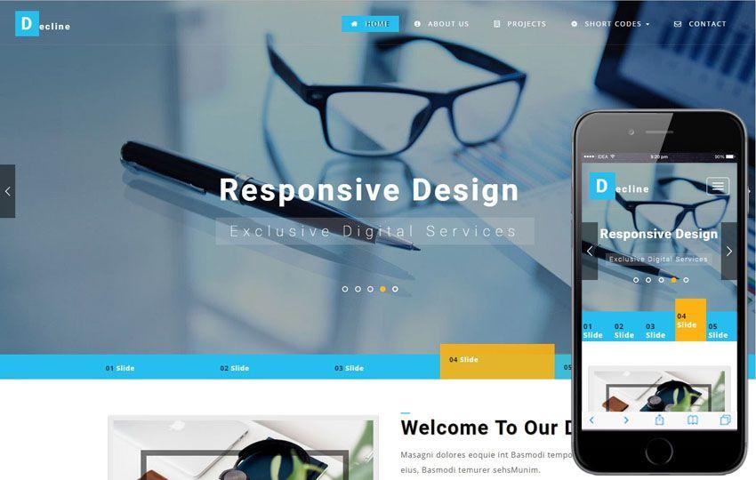 Decline a #Corporate #Category #Bootstrap #Responsive #websablon ...