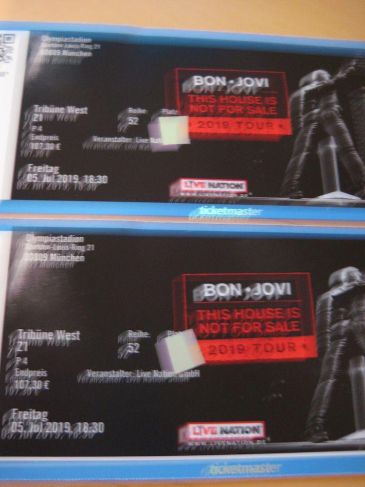 Bon Jovi 2 Top Sitzplätze Fr 5 Juli 2019 München This House Is Not