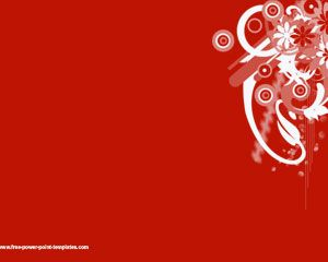 Free Red Background PowerPoint Template With Nice Effect And Plain Solid Color In The Slide