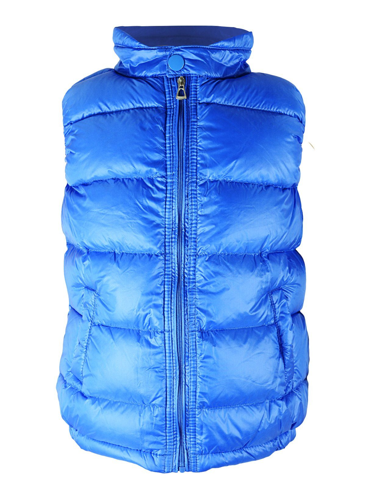 Kids Boys Girls Stand Collar Warm Cotton Down Vest Jacket Puffer Long Waistcoat