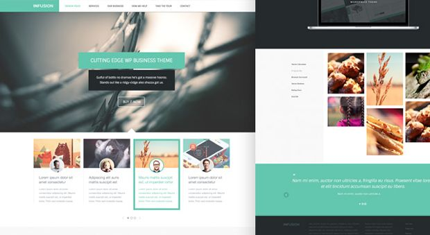 Free Download Infusion Html5 Css3 Web Template Psd Included Free Website Templates Business Website Templates Free Business Card Mockup