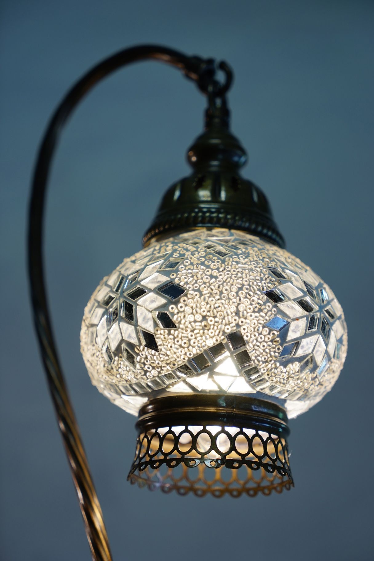Clear Mosaic Table Lamp | Mosaics, Pixies and Lights