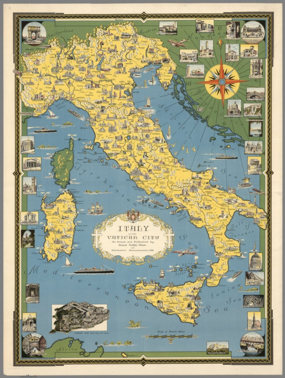 Italy, With Vatican City : As Drawn And Published