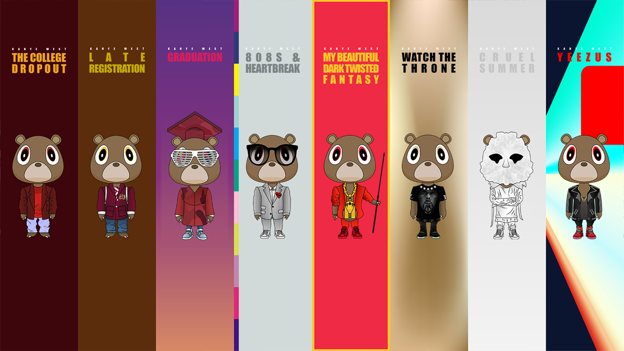 Kanye West Albums Kanye West Graduation Bear Bear Wallpaper Kanye West Wallpaper