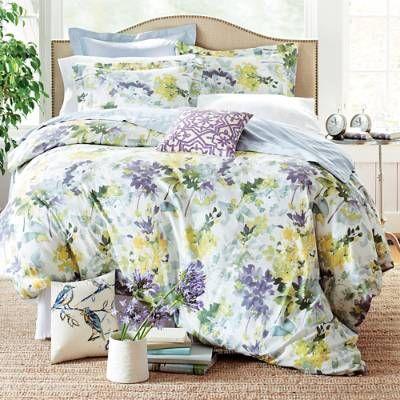 Watercolor Bloom Duvet Cover Grandin Road Purple Bedding Duvet Floral Comforter Sets