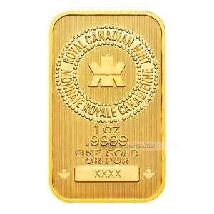 1 Oz Royal Canadian Mint New Style Gold Bar Gold Coin Price Gold Bar Gold Price Chart